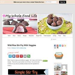 Wild Rice Stir Fry With Veggies