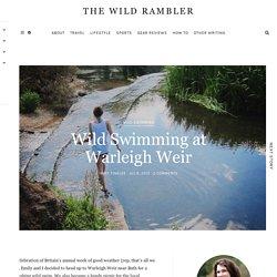 Wild Swimming at Warleigh Weir
