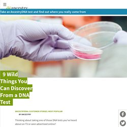 9 Wild Things You Can Discover From a DNA Test