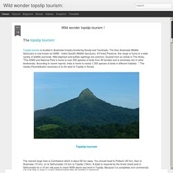 Wild wonder topslip tourism