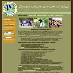 Apprentice Ecologist Initiative