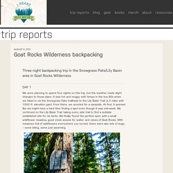 Goat Rocks Wilderness backpacking