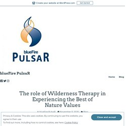 Role of Wilderness Therapy in Experiencing Nature Values