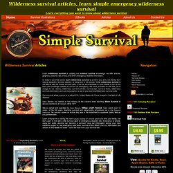 Wilderness Survival - Simple Survival