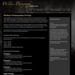 Wildeye Photography Pricing