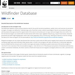 Wildfinder Database