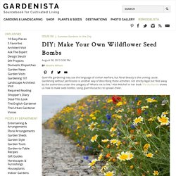 DIY: Make Your Own Wildflower Seed Bombs: Gardenista