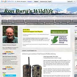 Ron Bury's Wildlife: Ltl Acorn 5210 and 6210 Trail Camera Problem Solving