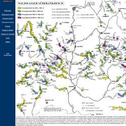 Wildwasserflüsse in Südfrankreich