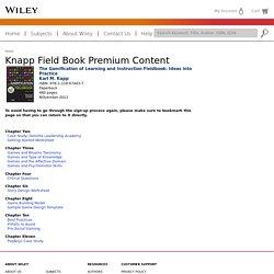 : Knapp Field Book Premium Content