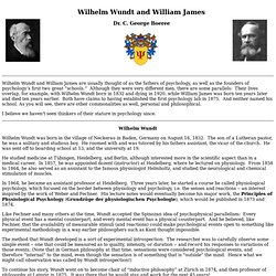 Wilhelm Wundt and William James