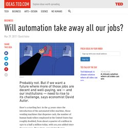 Will automation take away all our jobs?