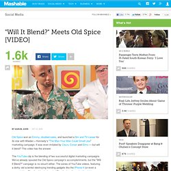 """Will It Blend?"" Meets Old Spice"