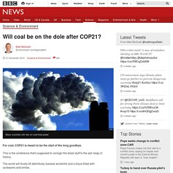 Will coal be on the dole after COP21?