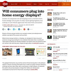 Will consumers plug into home energy displays?