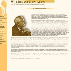 Will Durant: What is Civilization?