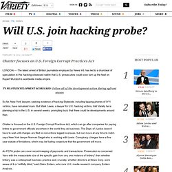 Will U.S. join hacking probe? - Entertainment News, TV News