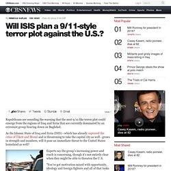 Will ISIS plan a 9/11-style terror plot against the U.S.?