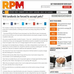 Will landlords be forced to accept pets?