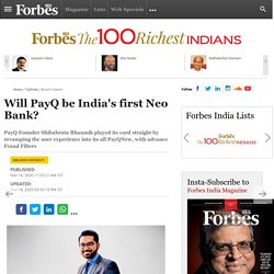 Will PayQ Be India's First Neo Bank?