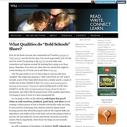 "What Qualities do ""Bold Schools"" Share?"