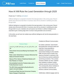 How AI Will Rule the Lead Generation through 2025