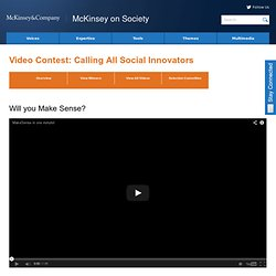 Will you Make Sense? | McKinsey on Society
