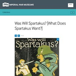Was Will Spartakus? [What Does Spartakus Want?]