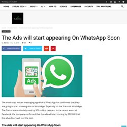 The Ads will start appearing On WhatsApp Soon - The BRO Tech