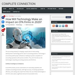 How Will Technology Make an Impact on CPA Firms in 2020?