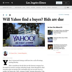 Will Yahoo find a buyer? Bids are due