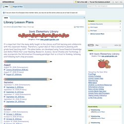 willdavislibrary [licensed for non-commercial use only] / Library Lesson Plans