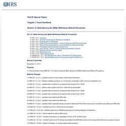 25.1.12 Bank Secrecy Act (BSA) Willfulness Referral Procedures
