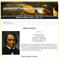 William Miller (Vol. 1, No. 2)