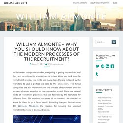 William Almonte - Why You Should Know About The Modern Processes