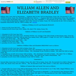 WILLIAM AND ELIZABETH ALLEN