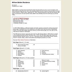 William Belden Residence - City Island (Bronx), N.Y.