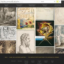 Welcome to the William Blake Archive