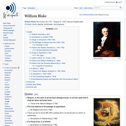 a biography of william blake an english poet painter and printmaker William blake (1757 – 1827) an english poet, painter, and printmaker was born in  london to james, a hosier, and catherine blake from early.