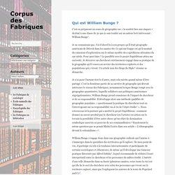 Qui est William Bunge ? – Corpus des Fabriques