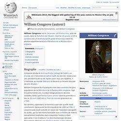 William Congreve (auteur)