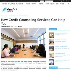 How Credit Counseling Services Can Help You