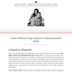 James William Hopp America's Entrepreneurial Spirit