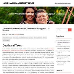 James William Henry Hopp: The Eternal Struggle of Tax Season