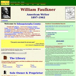 William Faulkner on the Web