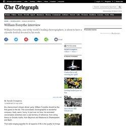 William Forsythe interview