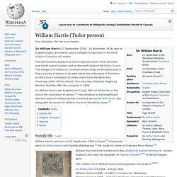 William Harris (Tudor person) many greats grampa