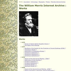 The William Morris Internet Archive : Works