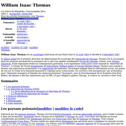 William Isaac Thomas