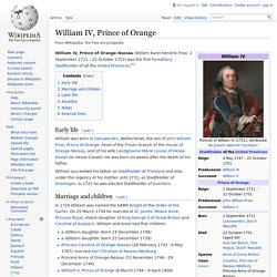 William IV, Prince of Orange